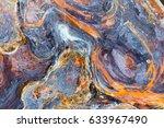 surreal corrosion pattern.... | Shutterstock . vector #633967490