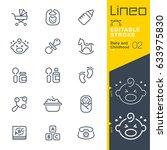 lineo editable stroke   baby... | Shutterstock .eps vector #633975830