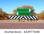 Blank Road Sign Boards In Two...