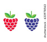 cartoon blackberry and raspberry | Shutterstock .eps vector #633978563