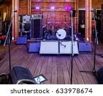 rock concert stage with musical ... | Shutterstock . vector #633978674