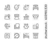 set line icons of sleep | Shutterstock .eps vector #633981530