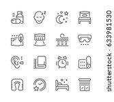 set line icons of sleep | Shutterstock .eps vector #633981530