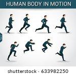 human body in motion  running... | Shutterstock .eps vector #633982250
