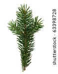 pine branch isolated on white | Shutterstock . vector #63398728