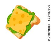 sandwich with cheese and... | Shutterstock .eps vector #633987908