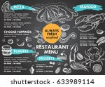restaurant cafe menu | Shutterstock .eps vector #633989114