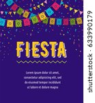 mexican fiesta background ... | Shutterstock .eps vector #633990179