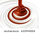milk swirl with chocolate candy | Shutterstock .eps vector #633994004
