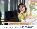 asian women students are... | Shutterstock . vector #633994400