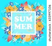 summer poster  banner  flyer....   Shutterstock .eps vector #633997106