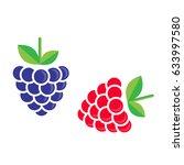 cartoon blackberry and... | Shutterstock .eps vector #633997580