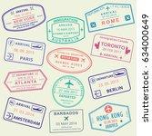 custom and travel passport... | Shutterstock . vector #634000649