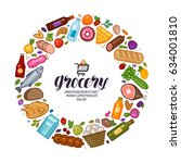 grocery store  banner. food ... | Shutterstock .eps vector #634001810