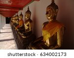 golden buddhas | Shutterstock . vector #634002173