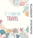 summer paradise holiday marine... | Shutterstock .eps vector #634004726