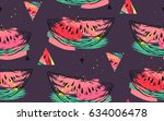 hand drawn vector abstract... | Shutterstock .eps vector #634006478