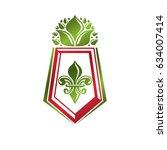 vintage heraldic emblem created ... | Shutterstock .eps vector #634007414