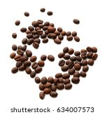 coffee beans. isolated on white ... | Shutterstock . vector #634007573