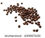 coffee grains | Shutterstock . vector #634007630