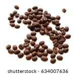 coffee beans isolate on white...   Shutterstock . vector #634007636
