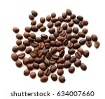 coffee bean isolated on white | Shutterstock . vector #634007660