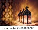 ramadan kareem  eid mubarak   ... | Shutterstock . vector #634008680