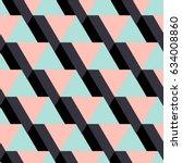 geometrical pattern. ethnic... | Shutterstock .eps vector #634008860
