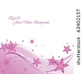 floral vector background with... | Shutterstock .eps vector #63402157