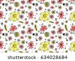 texture of flowers and other...   Shutterstock . vector #634028684