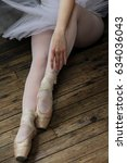 ballet shoes and tutu against a ...   Shutterstock . vector #634036043