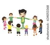 universal children's day in... | Shutterstock .eps vector #634053368