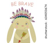 vector illustration of brave... | Shutterstock .eps vector #634053674
