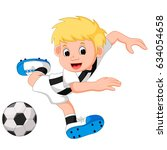 boy playing football | Shutterstock .eps vector #634054658