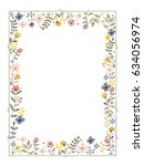 Rectangular Frame With A Flowe...