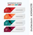 modern infographic colorful web ... | Shutterstock .eps vector #634064258