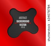 abstract black and red...   Shutterstock .eps vector #634078784