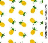 bright summer seamless pattern... | Shutterstock .eps vector #634080398