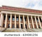 Widener Library at Harvard Yard of Harvard University, Cambridge, Massachusetts, USA.