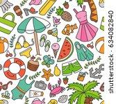 sea and summer. seamless...   Shutterstock .eps vector #634082840
