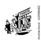 couple going to the movies  ... | Shutterstock .eps vector #63408682
