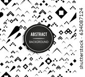 abstract seamless pattern with... | Shutterstock .eps vector #634087124