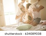 family spending free time at... | Shutterstock . vector #634089038