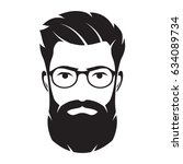 bearded men face  hipster... | Shutterstock .eps vector #634089734