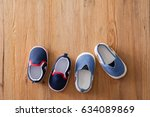 closeup little shoes for baby... | Shutterstock . vector #634089869
