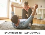 father and daughter spending... | Shutterstock . vector #634089938
