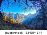 mountain silhouettes landscape | Shutterstock . vector #634094144