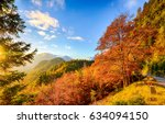 autumn mountain landscape | Shutterstock . vector #634094150