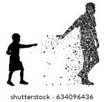silhouette vector of dead love... | Shutterstock .eps vector #634096436