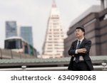 portrait of a businessman... | Shutterstock . vector #634098068